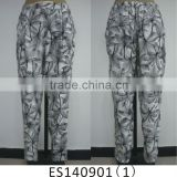 Ladies printed new fashion casual baggy pants