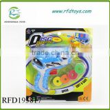 Plastic disc gun toys safe gun with soft bullet flying saucer gun