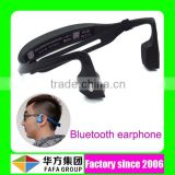 Sport mini dual channel stereo bone conduction earphone bluetooth stereo headset with microphone