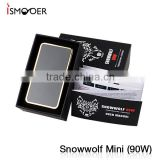 Snow Wolf Mini 90W TC Box Mod Supports Kanthal/Nickel/ Titanium Wires Single 18650 Gold and Gun Metal