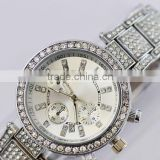 2014 vintage Roman gold watch women rhinestone watches dress quartz diamond lady watch luury brand bracelet steel watch