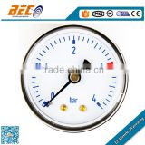 (Y-40D) 40mm ABS plastic case with transparent acrylic mirror dial type lower back pressure gauge manufacturer