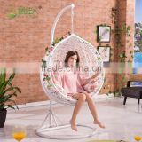 Round Egg Shape Outdoor Indoor Bedroom Wicker Rattan Hanging swing chair                                                                                                         Supplier's Choice