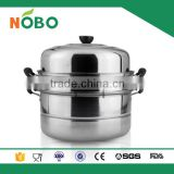 Two Layer Stainless Steel Induction Cooking Steamer Pot
