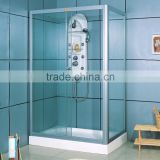 Aluminium Frame Tempered Glass Acylic Tray Rectangle Simple Shower Enclosure Room X27042
