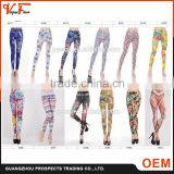 2016 wholesale cheap price custom made any color and size available printed fitness gym sport women leggings