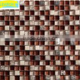 Gold leaf modern living room glass mosaic tile