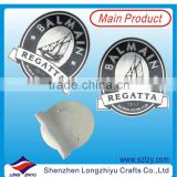 Acid etching and paint filled stainless steel brushed plate,metal large plate logo badge label with rivet holes for hanging