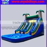 xixi toys jungle double lanes inflatable wet slide with pool