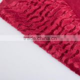100% polyester knitting velvet emboss decoration home textile fabric brush dot pattern cushion fabric