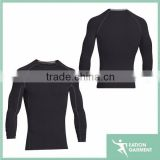 long sleeve black gym wear fitness mens compression shirts blank compression shirts wholesale compression shirts