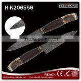 Factory stock damascus knife fixed blade knives with antler handle                                                                         Quality Choice