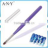 ANY Nail Art Salon High Quality UV Gel Nail Painting Wooden Nail Brush with Cap