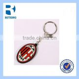 promotional key chain ring football team clubs logos AC milan logo