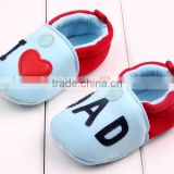 Fashion I Love DAD Pattern Newborn Baby Cotton Chevron Safty Crib Shoes