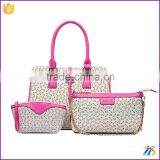 china ladies bags leisure hot sale pink outdoor tote bags china popular 3 In 1 sets lady handbags