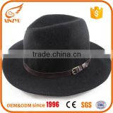 Wholesale mountain man felt fedora hat black wool felt cowboy hats