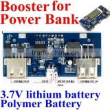 18650 Power Bank 5v usb charger circuit board Step Up Module 5V 1A 5V 2.1A double usb output supt 3.7V lithium battery ,polymer