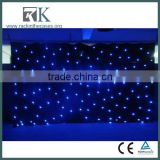 Flame Retardant Velvet Stage Backdrop LED Star Curtain, Fireproof LED RGB Star Curtain
