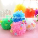2016 newest cheap price Mesh bath flower/Shower Bath Ball /Bath Sponge Mesh Ball