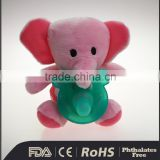 Silicone Baby Pacifier with 2016 new Design Animal Plush Toy Elephant