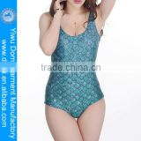 Digital print fish scale one piece mermaid swimsuit from China swimwear factory www sex women photo .com
