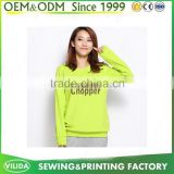 bright colored cheap pullover hoodies for women solid color hoodie without pockets By Guangzhou factory