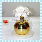 Golden electric plating scent ceramic aroma diffuser