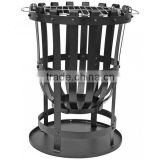 Black steel fire basket burner brazier