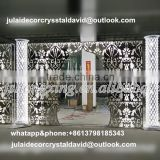 INQUIRY about Crystal & metal LED lighting wedding pillar /wedding walkway flower stand for wedding decoration events walkway