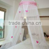 baby round mosquito nets/princess umbrella bed canopy with chiffon