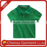 95% cotton 5% spandex polo t-shirts cute green children polo shirt ruffle sleeve raglan kids polo shirts organic quality