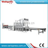 wooden door and furniture short cycle laminating hot press production line