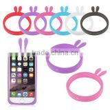 Rabbit Ears Universal Flexible Soft Silicone Phone Skin Case Cover Bumper Frame for Most Phone - Phone 5 / 5s / 6 47' / 5'5' ect
