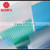shanghai quanfu's multi-wall policarbonate sheet/multiwall pc sheet for car park roofing