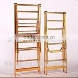 Gold silver ceiling mounted clothes drying rack