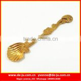Stainless Steel Mini Golden Conch Coffee Spoon