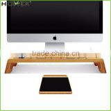 Bamboo Monitor and Computer Stand Riser with Mouse Pad/Office Storage Stand/Homex_FSC/BSCI Factory