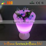 led wine cooler /pe plastic waterproof IP65 16 color change led ice bucket