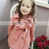 wholessale high quality Korea and japan style baby winter cashmere coat Wool kids clothes