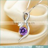 New arrival Muslim trendy fashion fine jewelry sterling silver necklace pendant for women