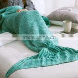 Hot selling adult/child/baby mermaid blanket crochet mermaid tail blanket