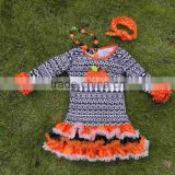 2015 new Girl Halloween Aztec Pumpkin print Dress Cosplay Costume Party Formal Dresses cute dresses with matching Accessories