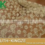 2016 fashion Lace Fabric Art Lace (2yards/pack) Light beige bone spur lace car full of gold , garment accessories, lace cloth 12