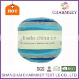 Charmkey 2017 recycled freshing colors cake yarn new hair wool acrylic yarn crochet fancy yarn wonderfully versatile