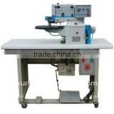 Automatic leather folding machine