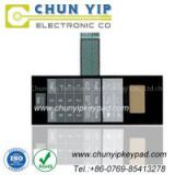 Numeric array keypad membrane switch with good function