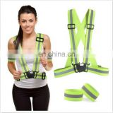 Women Customized Sports Reflective Safety Belt with Two Wrist Bands