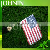 Cheap popular polyester custom mini America hand shanking flag