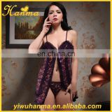 Most popular luxury transparent erotic lingerie women's sex night wear
